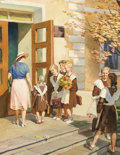 Fine Art - Painting, Russian:Contemporary (1950 to present), IVAN ALEKSANDROVICH KOZLOV (Russian, b. 1920). A Beginner'sEntrance, circa 1950. Oil on canvas. 31 x 24 inches (78.7 x ...