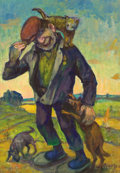 Fine Art - Painting, Russian:Contemporary (1950 to present), ABRAM ISAAKOVICH MONOSZON (Russian, 1914-1980). Veteran. Oilon artist borad. 27-1/4 x 19-1/2 inches (69.2 x 49.5 cm). S...