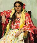 Paintings, NIKOLAI F. NAZAROV (Russian, 20th Century). Gypsy, 1969. Oil on canvas. 35 x 31 inches (88.9 x 78.7 cm). Signed lower le...
