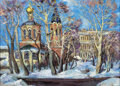 Fine Art - Painting, Russian:Contemporary (1950 to present), E.A. MALAFIEV (Russian, 20th Century). Troitsky Cathedral.Oil on canvas. 30-3/8 x 38-7/8 inches (77 x 99 cm). Inscribed...