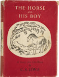 Books:First Editions, C.S. Lewis. The Horse and His Boy ... With Illustrations byPauline Baynes. London: Geoffrey Bles, [1954]....