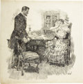 Mainstream Illustration, ORSON LOWELL (American 1871 - 1956). A Derelict. Ink onpaper. 23 x 23 in.. Signed lower right. ...