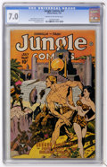 Golden Age (1938-1955):Adventure, Jungle Comics #67 (Fiction House, 1945) CGC FN/VF 7.0 Cream to off-white pages....