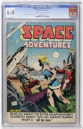 Golden Age (1938-1955):Science Fiction, Space Adventures #8 (Charlton, 1953) CGC FN 6.0 Cream to off-whitepages....