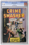 Golden Age (1938-1955):Crime, Crime Smasher #1 (Fawcett, 1948) CGC VF- 7.5 Off-white pages....