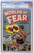 Golden Age (1938-1955):Horror, Worlds of Fear #8 (Fawcett, 1953) CGC FN+ 6.5 Cream to off-whitepages....