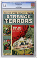 Golden Age (1938-1955):Horror, Strange Terrors #2 Bethlehem pedigree (St. John, 1952) CGC VF- 7.5Off-white pages....