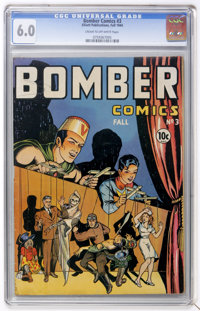 Bomber Comics #3 (Elliot, 1944) CGC FN 6.0 Cream to off-white pages