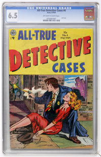 All-True Detective Cases #4 (Avon, 1954) CGC FN+ 6.5 Off-white to white pages