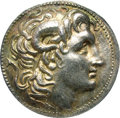 Ancients:Greek, Ancients: Thracian Kingdom. Lysimachos. 323-281 B.C. AR tetradrachm(30 mm). Amphipolis, ca. 288-281 B.C. Diademed head of deifiedAle...