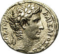 Ancient Lots: , Ancient Lots: Syria, Seleucis and Pieria. Antioch ad Orontem.Augustus. 27 B.C.-A.D. 14. AR tetradrachm (26 mm, 14.87 g). ActianEra 27 (5...