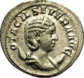 Ancient Lots: , Ancient Lots: Otacilia Severa, wife of Philip I. AR double denarius(23 mm, 4.71 g). Rome, A.D. 248. Diademed and draped bust right,set o...