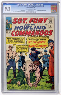 Sgt. Fury and His Howling Commandos #5 (Marvel, 1964) CGC NM- 9.2 Off-white to white pages.... (Total: 0)