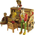 Antiques:Toys, Li'l Abner's Dogpatch Band Tin Windup Toy...
