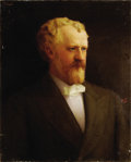 """Political:3D & Other Display (pre-1896), ROSCOE CONKLING. . Freeman Woodcock Thorp (American, 1844-1922). . Oil on canvas. . 22"""" x 27"""". . Signed at upper le..."""
