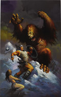 Paintings, KEN KELLY (American 20th Century). Monster of the Mountains, 1993. Oil on board. 47 x 29.5 in.. Signed and dated lower r...