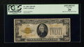 Small Size:Gold Certificates, Fr. 2402 $20 1928 Gold Certificate. PCGS Apparent Very Fine 20.. ...