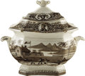 Political:3D & Other Display (pre-1896), William Henry Harrison: 1840 Campaign Sugar Bowl with Medallion Portraits...
