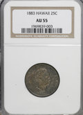 Coins of Hawaii: , 1883 25C Hawaii Quarter AU55 NGC. NGC Census: (36/647). PCGSPopulation (74/1053). Mintage: 500,000. (#10987)...