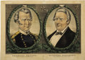 Political:Posters & Broadsides (pre-1896), Taylor & Fillmore: 1848 Currier Grand National Banner Jugate Campaign Print....