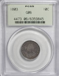 Early Dimes, 1803 10C Good 6 PCGS....