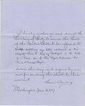Autographs:U.S. Presidents, Grover Cleveland Partially Printed Document Signed, ...