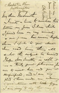 """Autographs:Military Figures, Charles G. """"Chinese"""" Gordon Autograph Letter Signed ..."""
