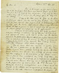 Autographs:Statesmen, Henry Clay Autograph Letter Signed ...