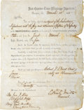 Military & Patriotic:Civil War, Edmund Kirby Smith Partly Printed Document Signed, Naming John J. Dix an Agent of the Subsistence Department of the Confederat...