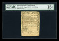 Colonial Notes:Massachusetts, Massachusetts August 18, 1775 20s PMG Choice Fine 15 Net.. ...