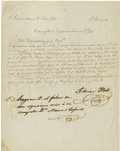 Autographs:Military Figures, Adrian Woll Manuscript Letter Signed,...