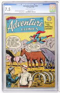 Golden Age (1938-1955):Superhero, Adventure Comics #206 (DC, 1954) CGC VF- 7.5 Cream to off-white pages....