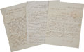 Autographs:Non-American, Ramón Músquiz Three Autograph Letters Signed Written During theMexican Civil War. ... (Total: 3 Items)