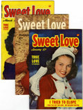 Golden Age (1938-1955):Romance, Sweet Love #2, 3, and 4 Group (Harvey, 1949-50) Condition: AverageVF.... (Total: 3 Comic Books)