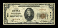 National Bank Notes:Pennsylvania, Smethport, PA - $20 1929 Ty. 1 The Grange NB of McKean County Ch. #8591. ...