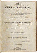 Books:Early Printing, Wm. Ogden Niles [editor]. Niles' Weekly Register, From September, 1836, To March, 1837 - Vol. LI or, Volume XV. - Fifth ...