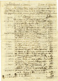 Autographs:Military Figures, Financial Accounting for the Presidial Company of Monclova, and the District of Coahuila y Tejas - Manuscript Document Signed ...