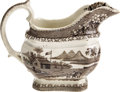 Political:3D & Other Display (pre-1896), William Henry Harrison: Scarce 1840 Log Cabin Pattern Creamer...