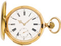 Timepieces:Pocket (pre 1900) , Monard Pink Gold Quarter Hour Repeater, circa 1895. ...