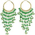 Estate Jewelry:Earrings, Emerald, Gold Earrings. ... (Total: 2 Items)