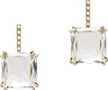 Estate Jewelry:Earrings, Rock Crystal Quartz, Diamond, Gold Earrings, H. Stern. ... (Total: 2 Items)
