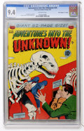"""Golden Age (1938-1955):Horror, Adventures Into The Unknown #29 Davis Crippen (""""D"""" Copy) pedigree(ACG, 1952) CGC NM 9.4 Off-white pages...."""