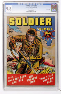 Soldier Comics #5 Crowley Copy pedigree (Fawcett, 1952) CGC NM/MT 9.8 Off-white pages