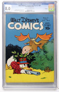 Golden Age (1938-1955):Cartoon Character, Walt Disney's Comics and Stories #68 File Copy (Dell, 1946) CGC VF8.0 Cream to off-white pages....