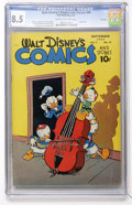 Golden Age (1938-1955):Funny Animal, Walt Disney's Comics and Stories #84 File Copy (Dell, 1947) CGC VF+8.5 Cream to off-white pages....