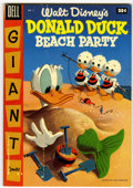 Golden Age (1938-1955):Funny Animal, Dell Giant Comics Donald Duck Beach Party #2 (Dell, 1955)Condition: VF....