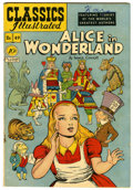 Golden Age (1938-1955):Classics Illustrated, Classics Illustrated #49 Alice in Wonderland - Original Edition(Gilberton, 1948) Condition: VG+....
