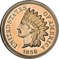 Proof Indian Cents, 1859 1C PR67 NGC....
