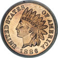 Proof Indian Cents, 1886 1C Type One PR67 Red and Brown PCGS....
