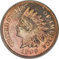 Proof Indian Cents, 1909 1C Indian PR65 Red Cameo PCGS....
